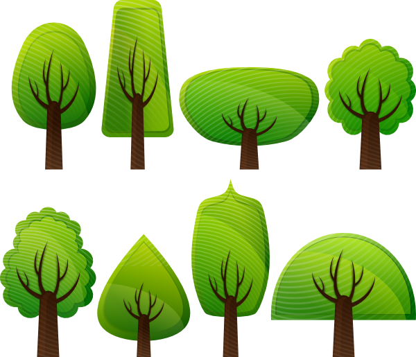 Trees clip art at. Clipart grass simple