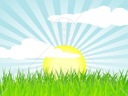 The is greener syndrome. Clipart grass sun