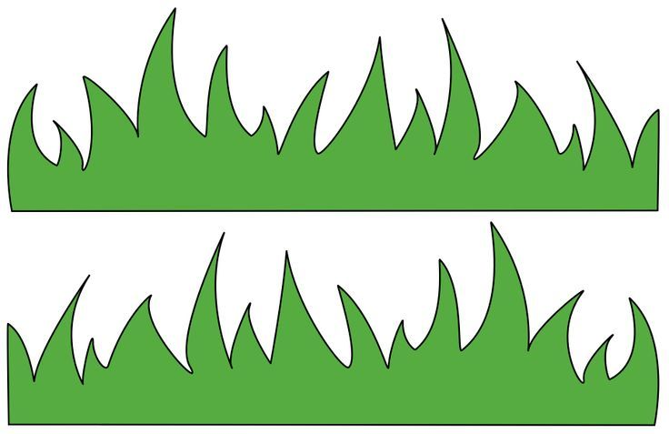 Clipart grass template. For kids best craft
