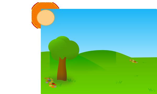 Clipart grass tree. Trees sky clip art