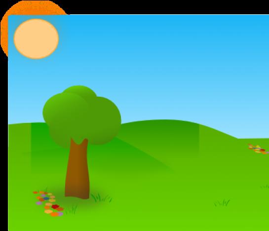 Clipart grass tree. Trees cartoon garden background