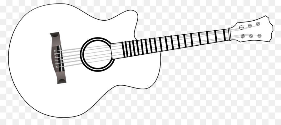 Clipart guitar. Electric black and white