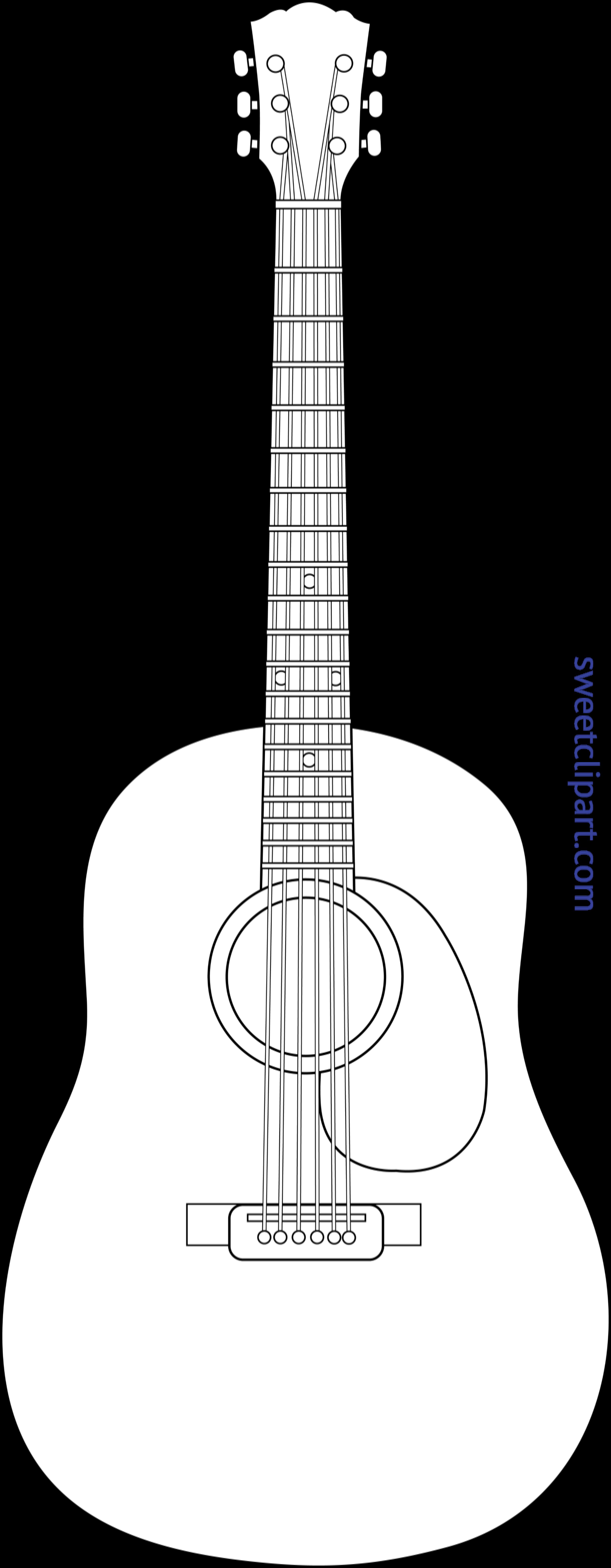 Clipart guitar accoustic guitar. Acoustic lineart clip art