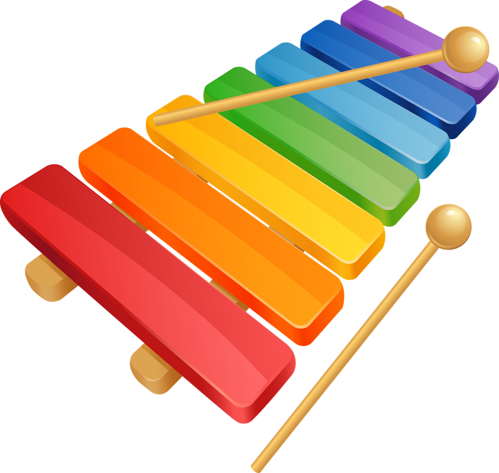 Piano clipart green toy.  a d b