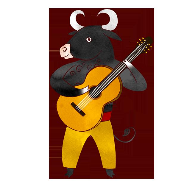 Clipart guitar balalaika. Jazzy animal musicians world