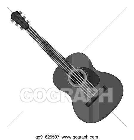 Stock illustration spanish acoustic. Clipart guitar bitmap
