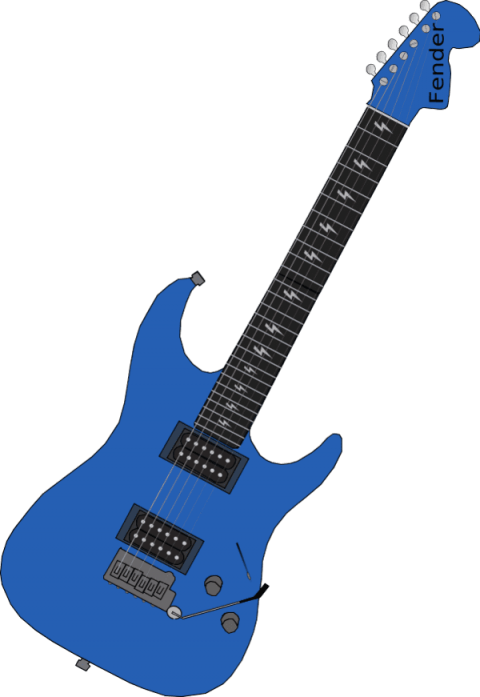 Electric png free images. Guitar clipart blue object