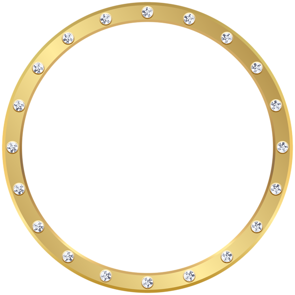 Gold frame with crystals. Clipart guitar border