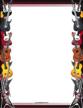 Clipart guitar border. Free cliparts download clip