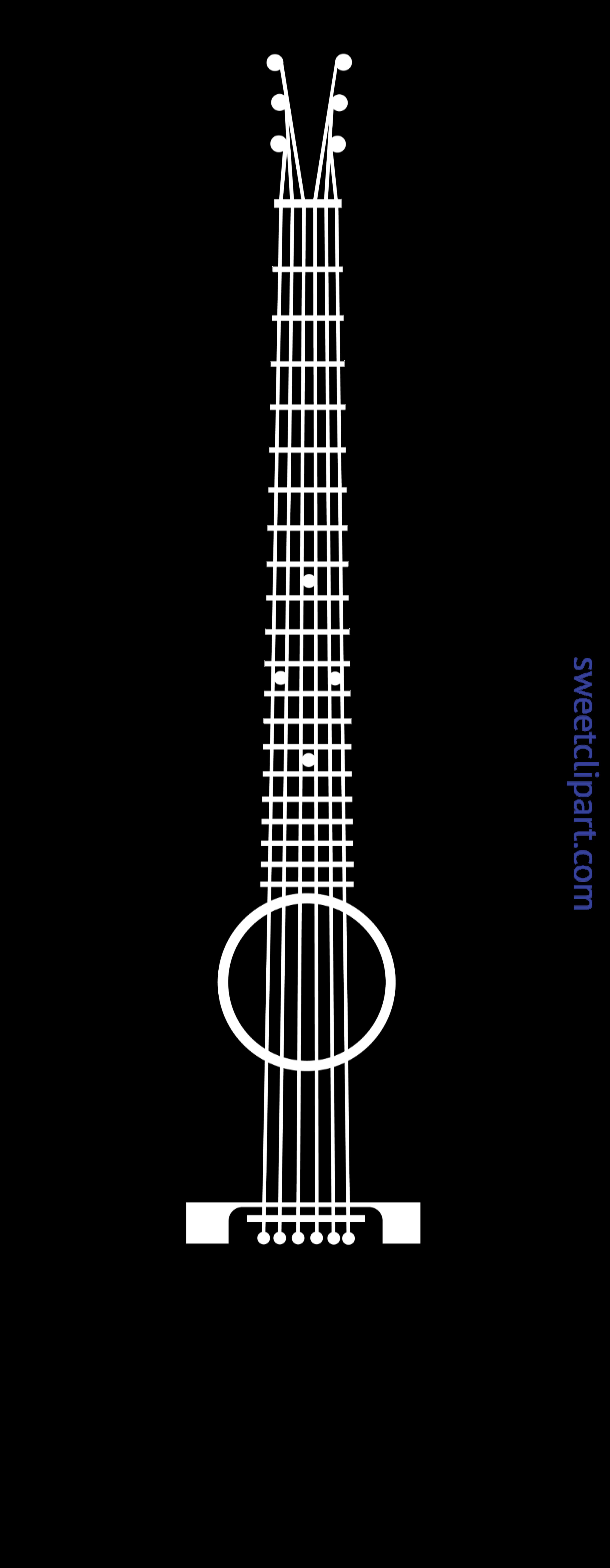Clipart guitar box. Acoustic black silhouette clip