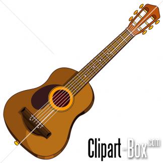 Clipart guitar box. Folk art vector free