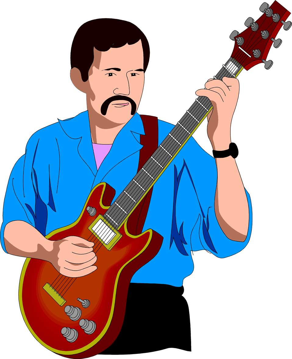 Clipart guitar boy.  collection of man
