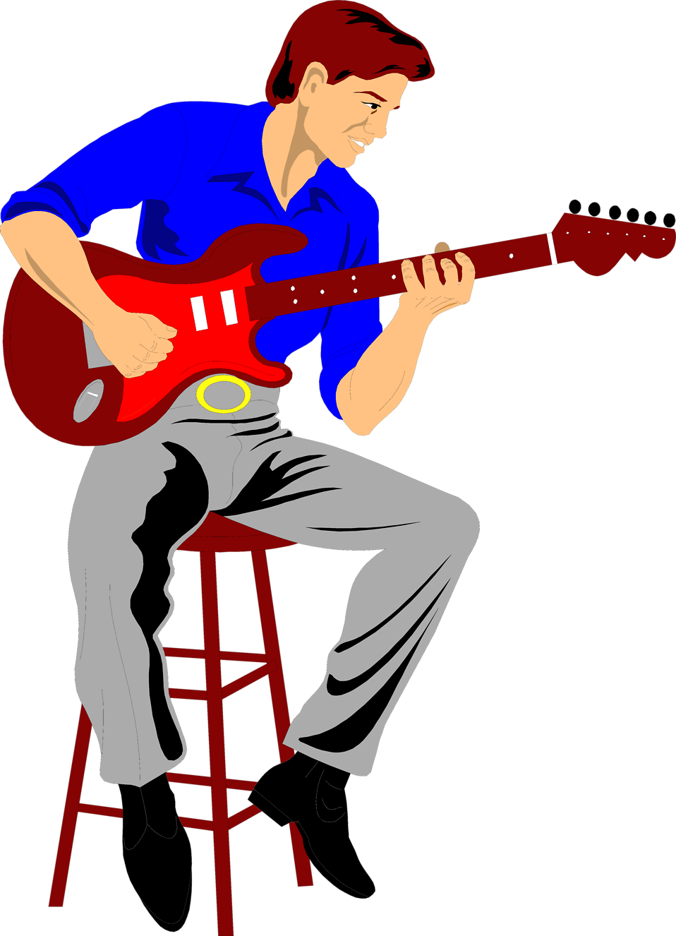 Clipart guitar boy.  collection of free