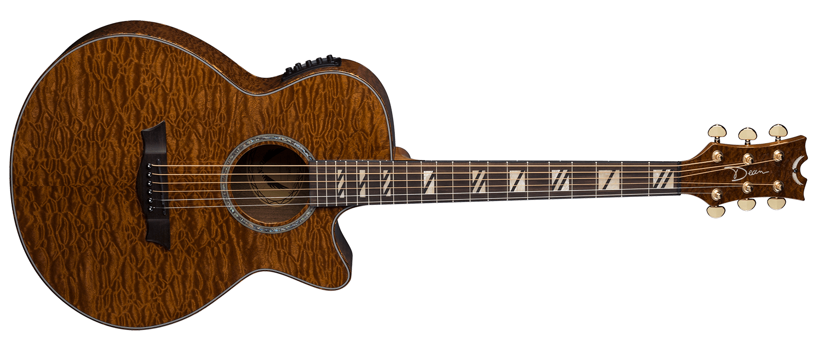 Guitar brown guitar
