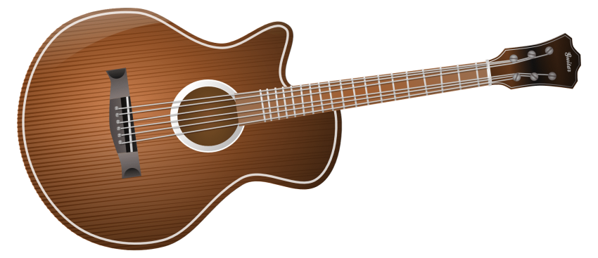 Acoustic png free images. Clipart guitar classic guitar