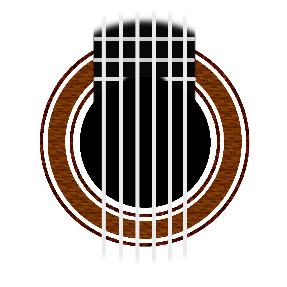 Clipart guitar classical guitar. Rosette simple by changsta