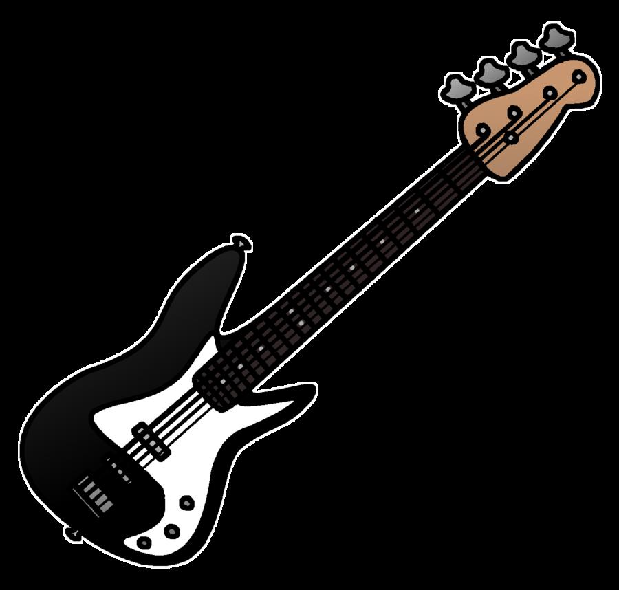 Bass electric clip art. Clipart guitar clear background