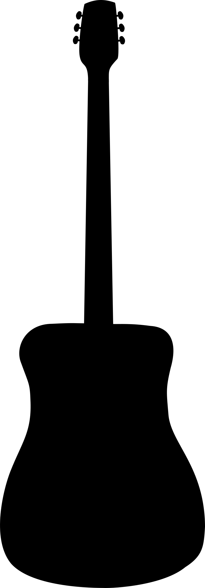 Clipart guitar clip art black. Acoustic silhouette big image
