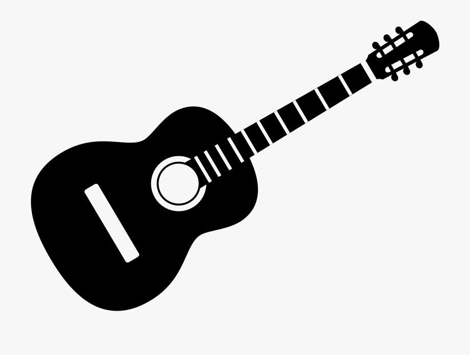 And white . Clipart guitar clip art black