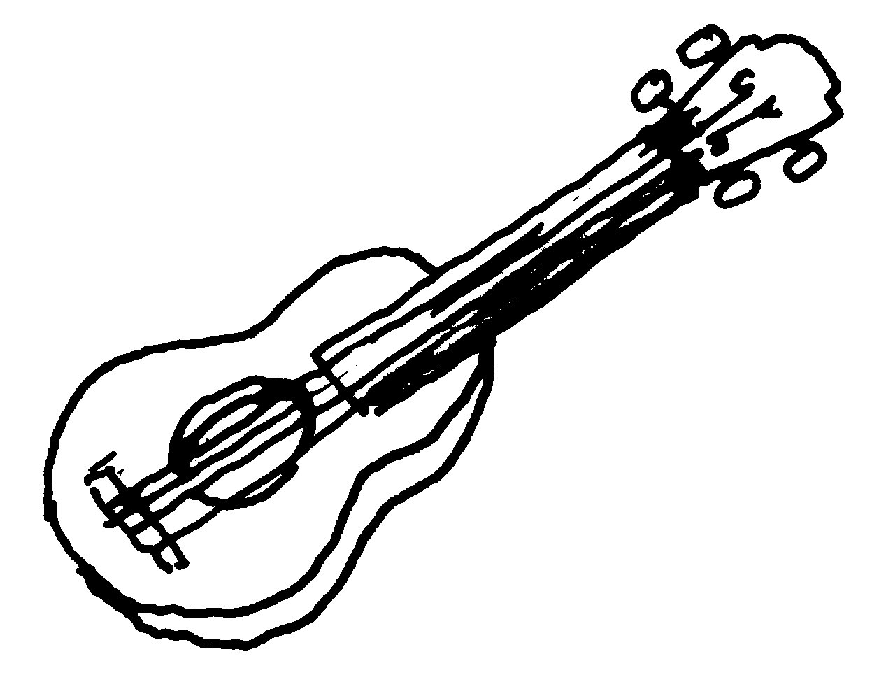 And white images wikiclipart. Clipart guitar clip art black