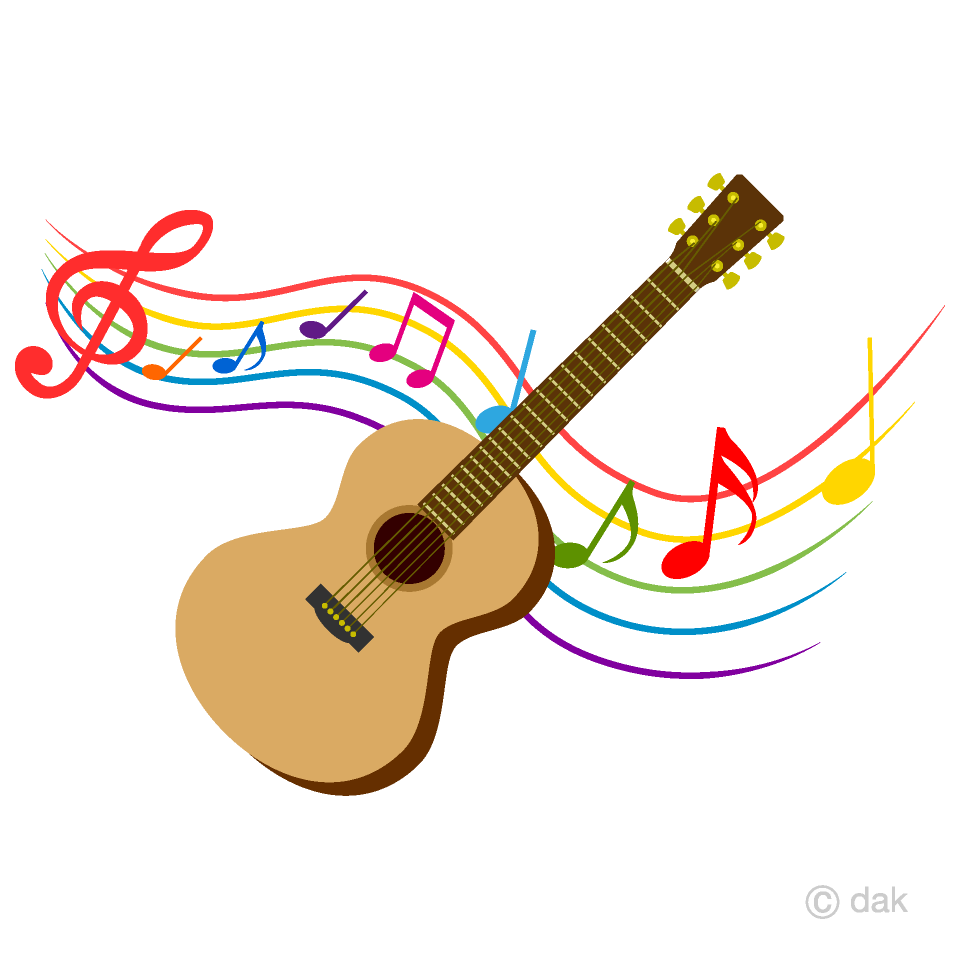 And note music free. Clipart guitar colorful guitar