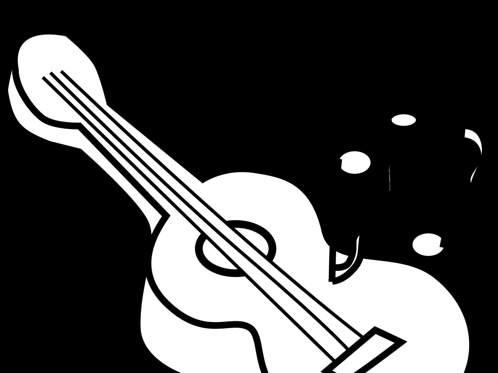 Line drawing at getdrawings. Clipart guitar coloring