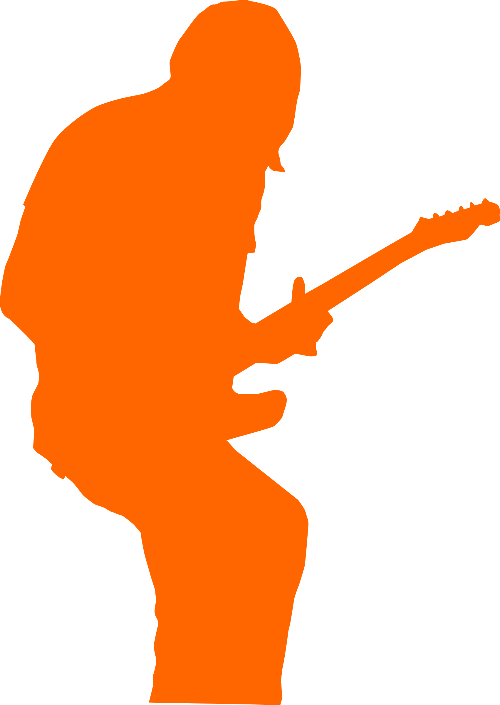Guitarist rock big image. Clipart guitar concert
