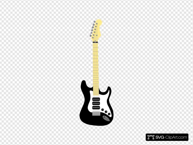 Electric clip art icon. Clipart guitar cool guitar