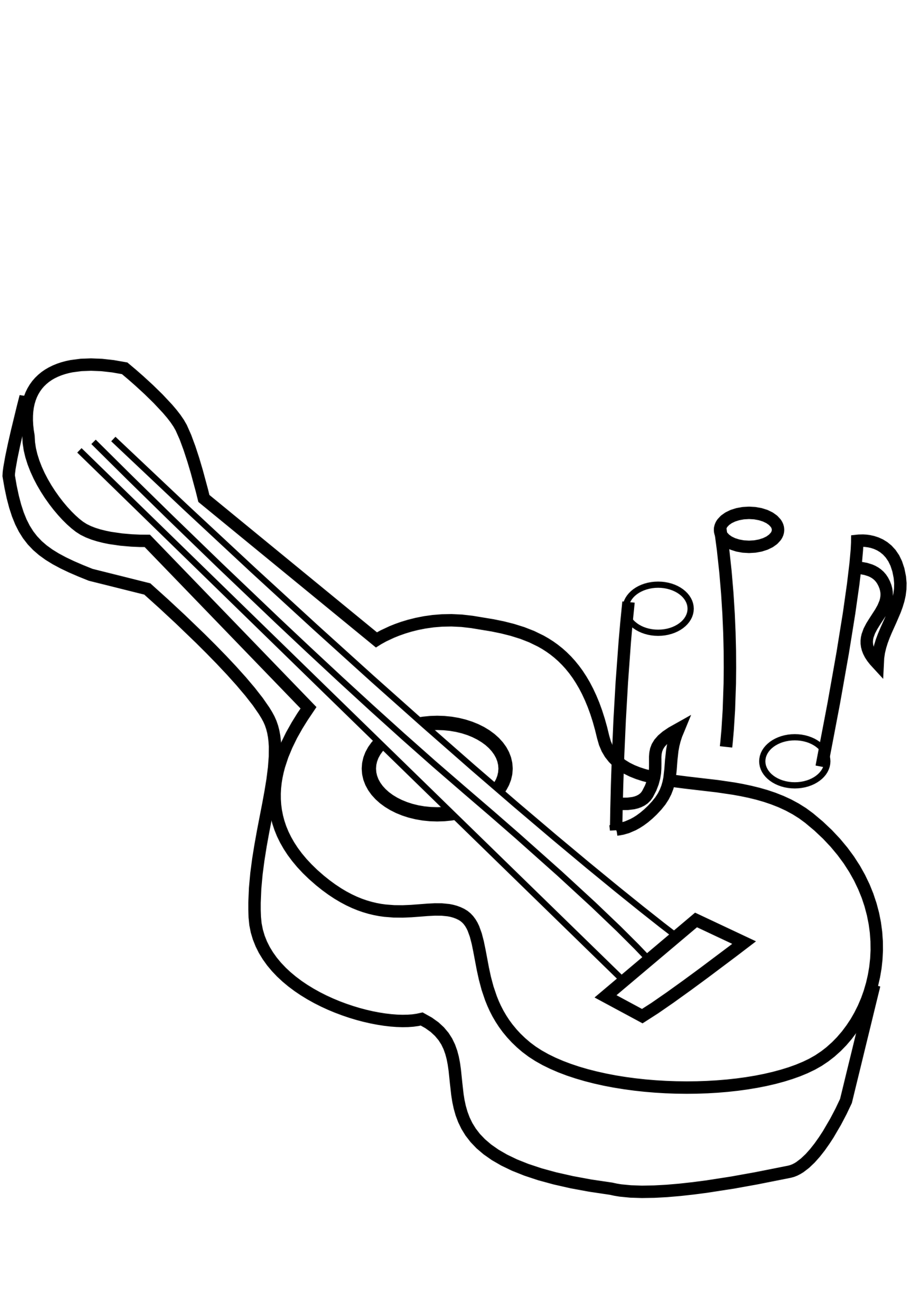 Clipart guitar country guitar. Black and white jokingart