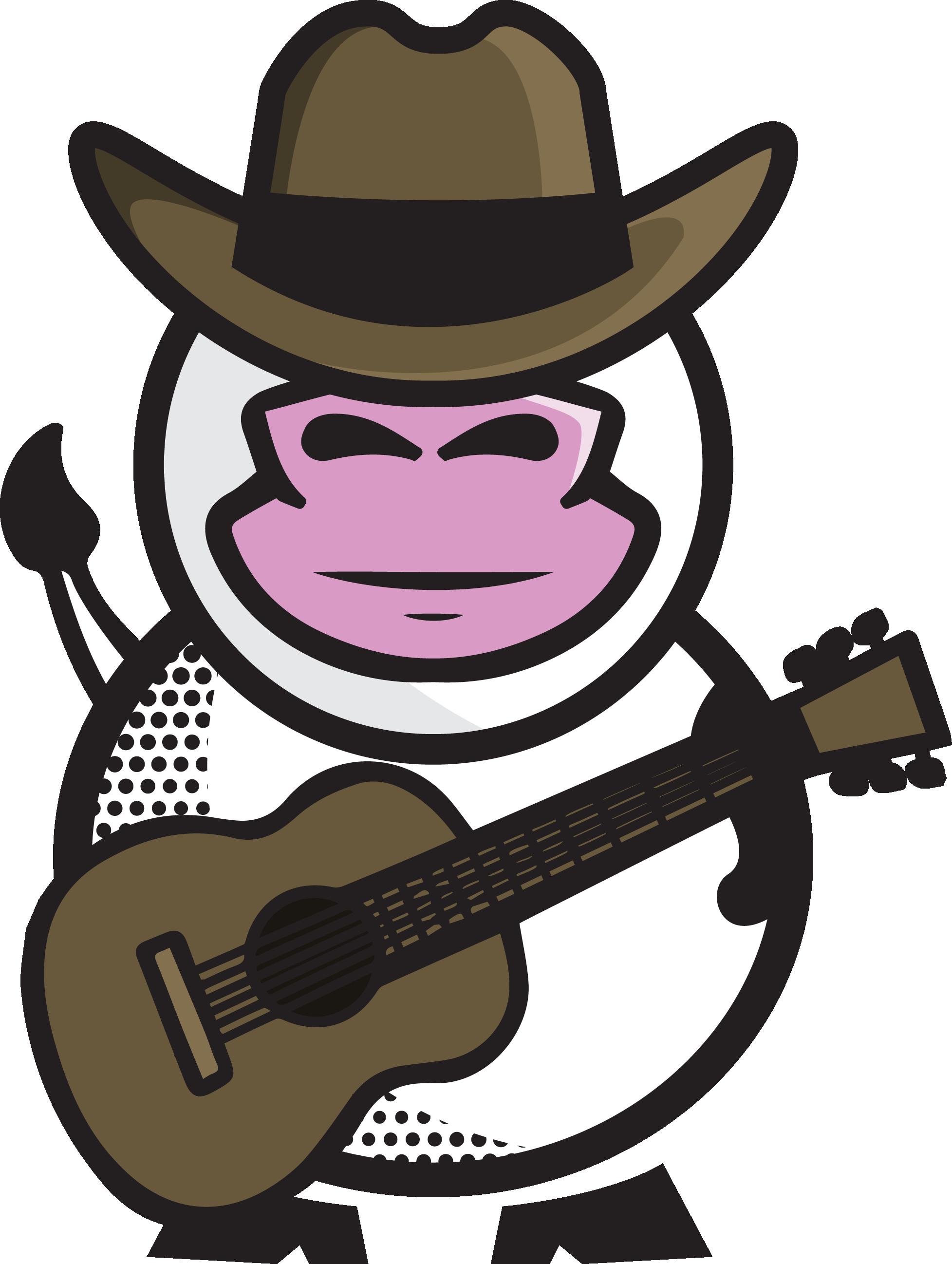 Clipart guitar cowboy hat. Udderly america trumoo