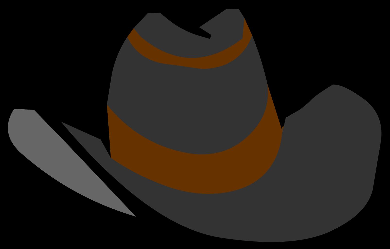 Hats clipart cow boy. Black cowboy hat club