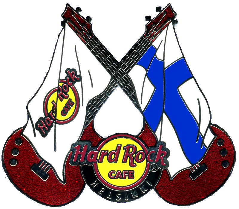 Hard rock cafe pins. Clipart guitar crossed