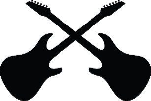 Electric guitars gifts on. Clipart guitar crossed