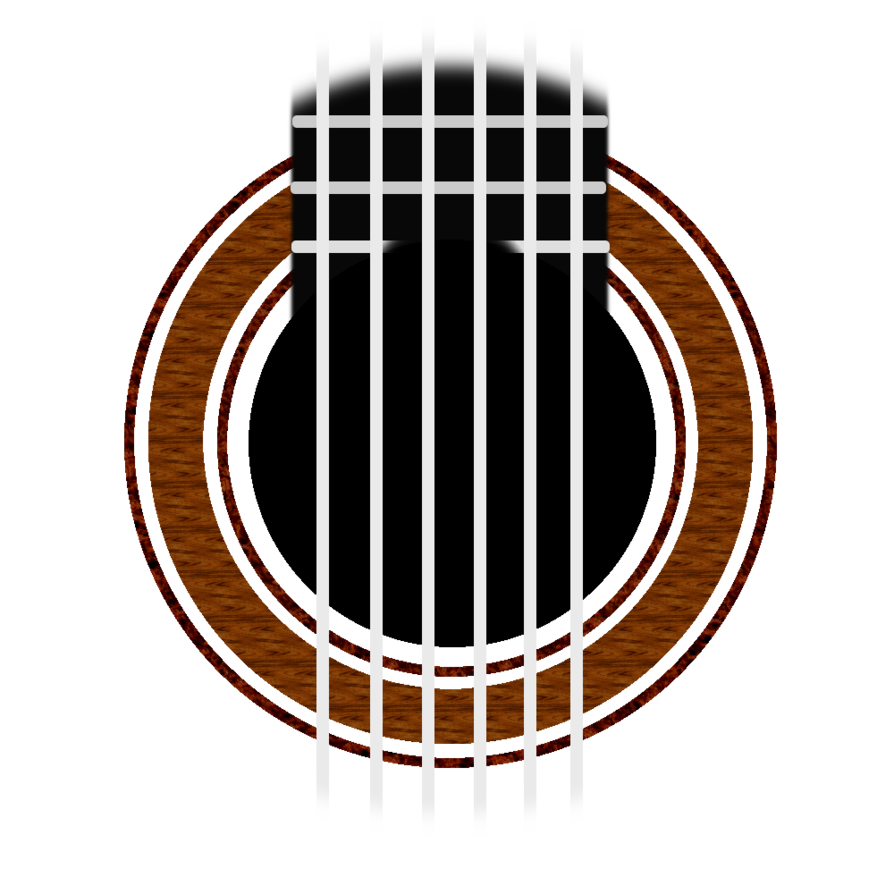 Clipart guitar crossed. Classical rosette simple by