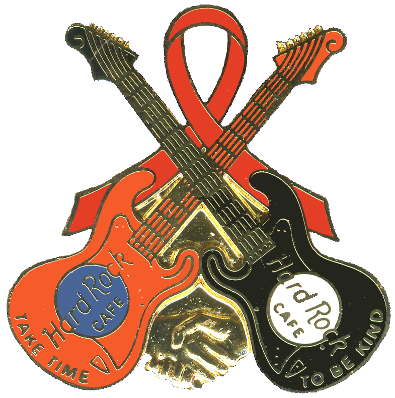 Clipart guitar crossed. Hard rock cafe pins