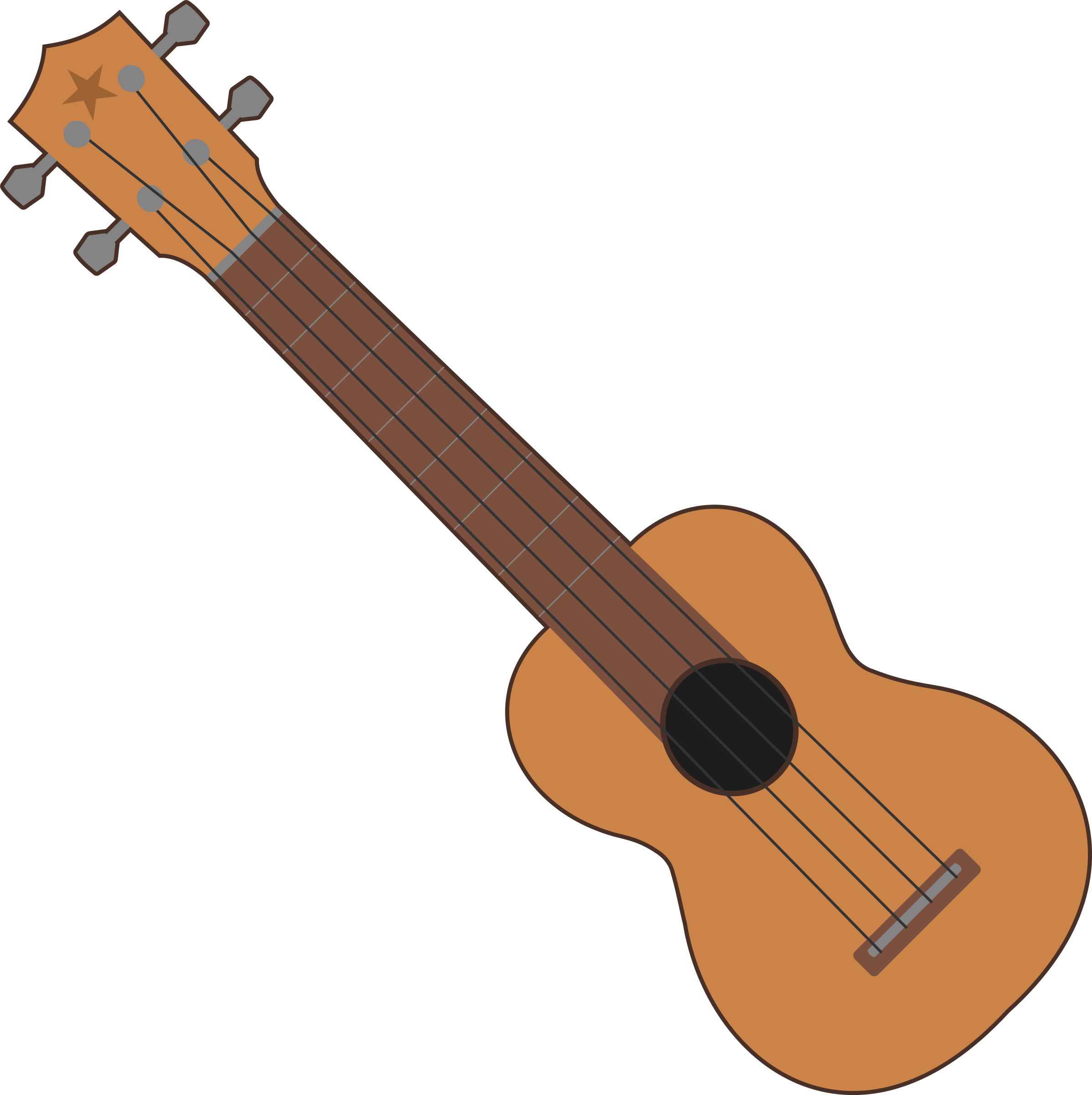 collection of ukulele. Clipart guitar easy