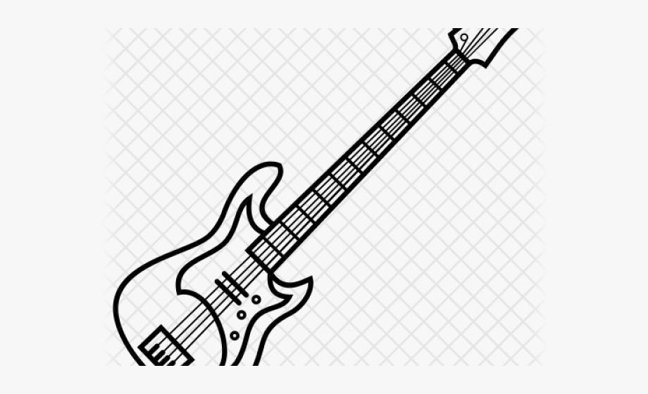 Bass line art . Clipart guitar easy