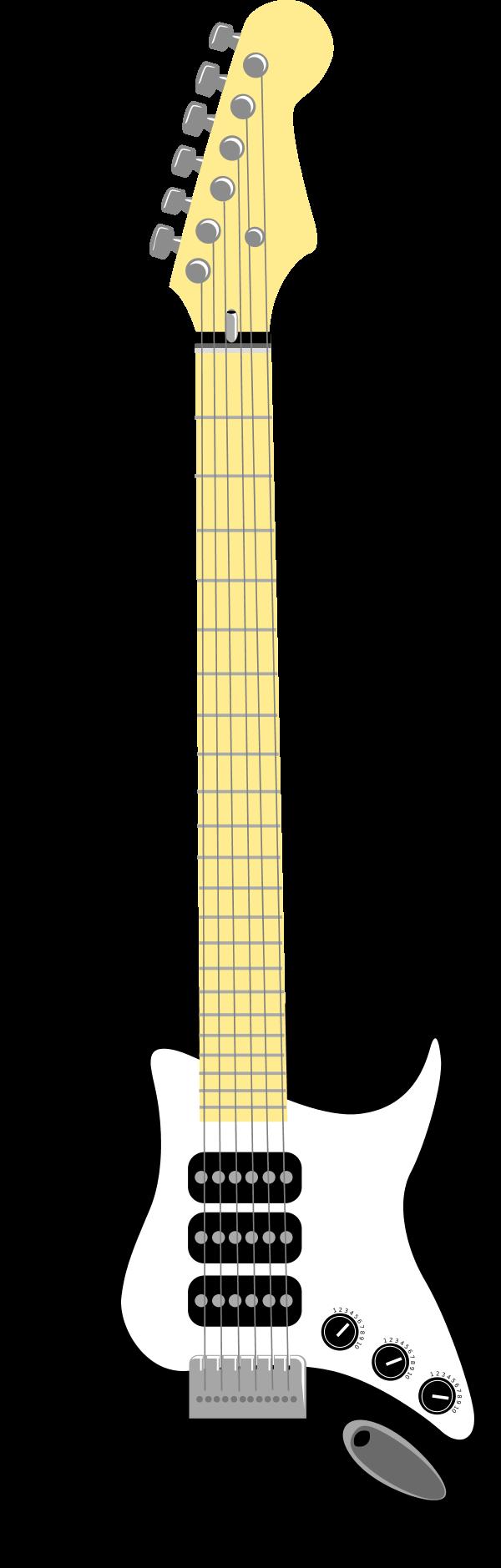 Black and white panda. Clipart guitar electric guitar