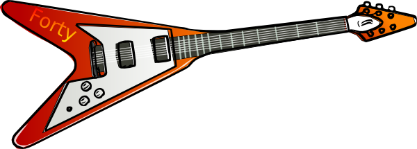 Forty rock roll clip. Clipart guitar electric guitar
