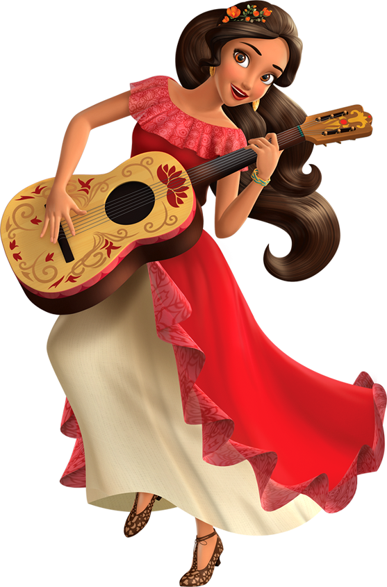 Clipart guitar elena avalor. Of sticker book disney