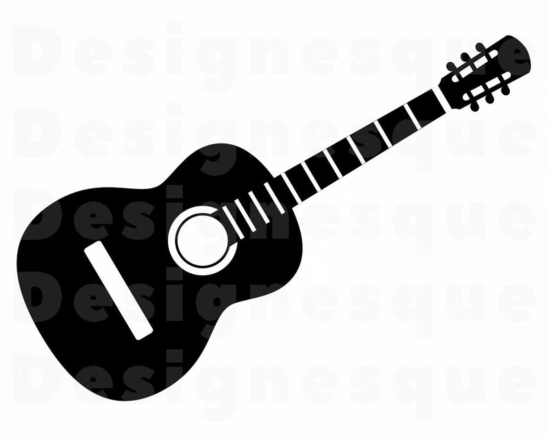 Svg files for cricut. Clipart guitar file