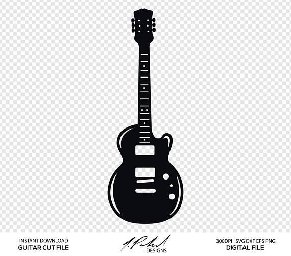 Clipart guitar file. Cut digital files svg