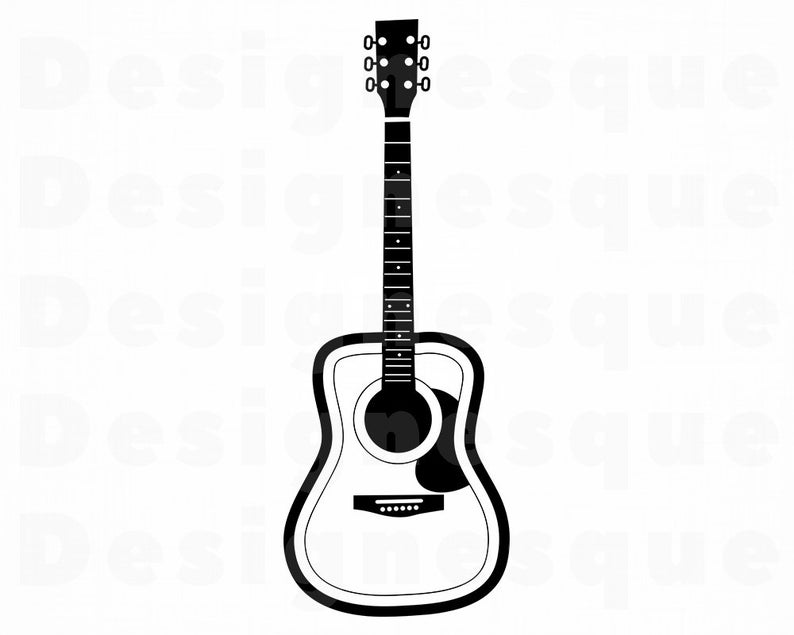 Clipart guitar file. Svg files for cricut