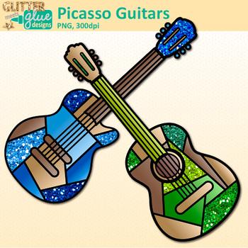 Clipart guitar glitter. Pablo picasso clip art