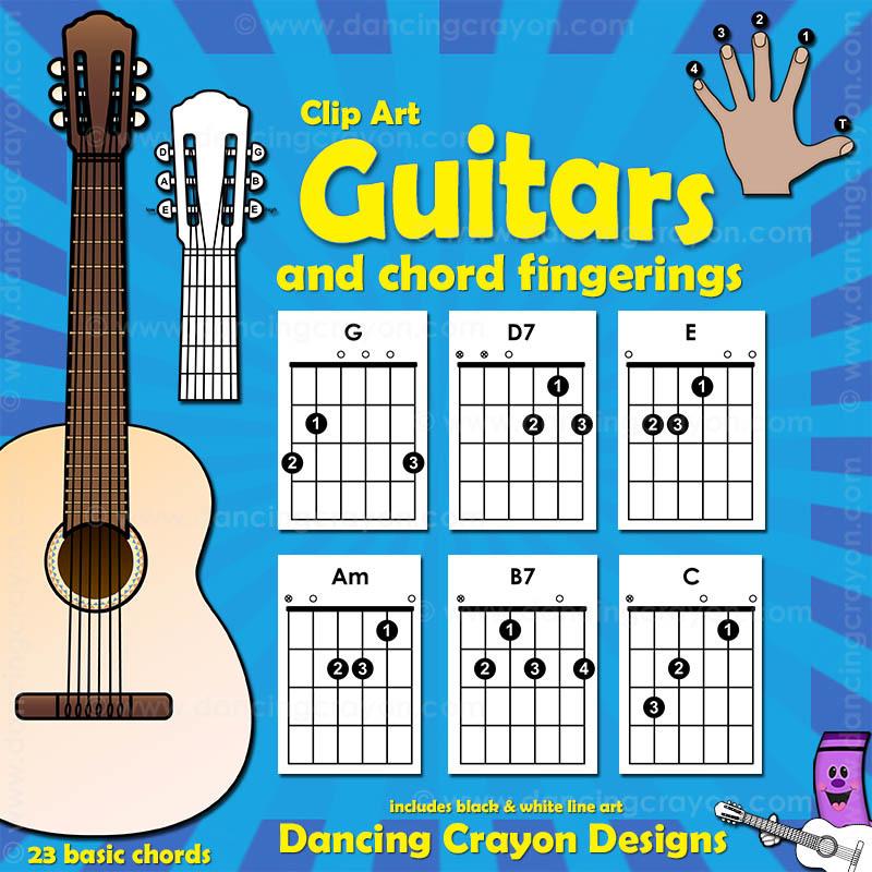 Clipart guitar guitar class. Chords clip art fingerings