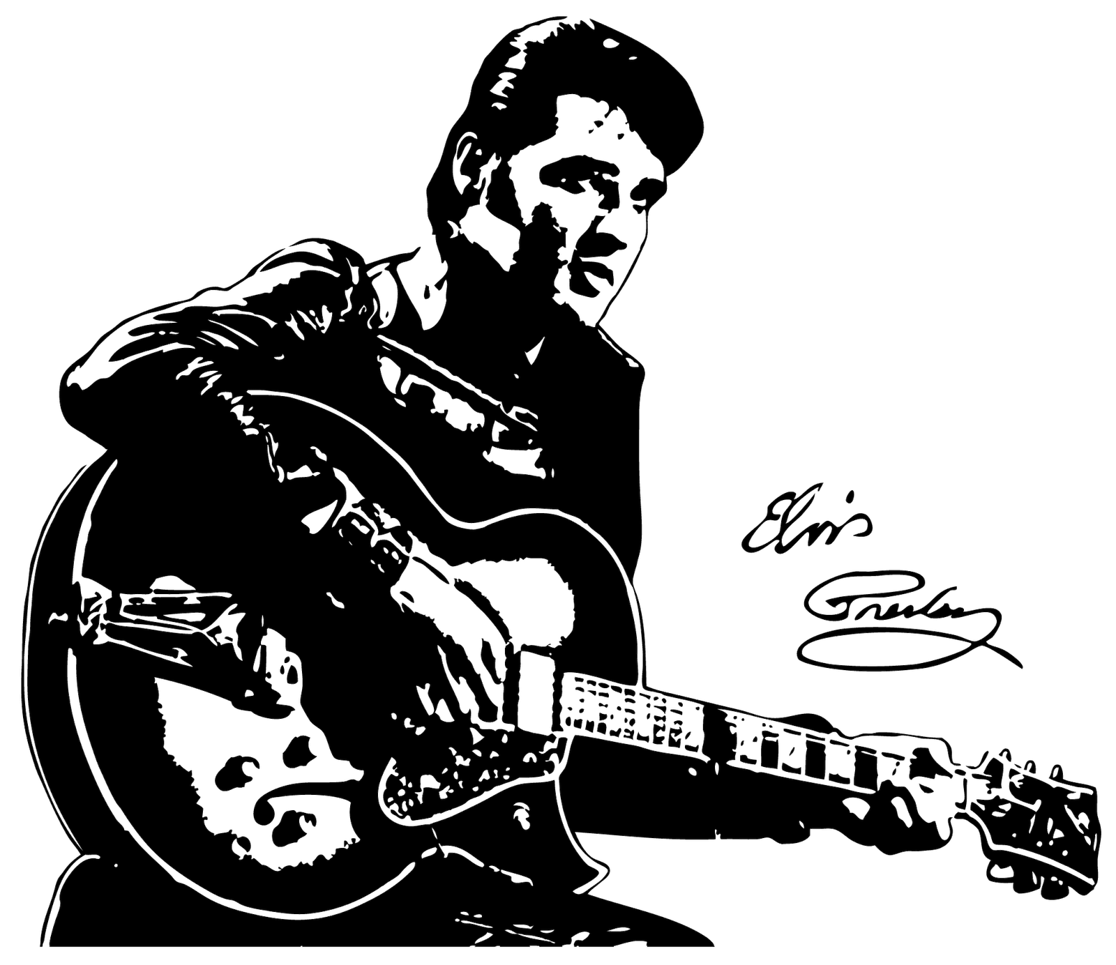 Elvis drawing at getdrawings. Jazz clipart line