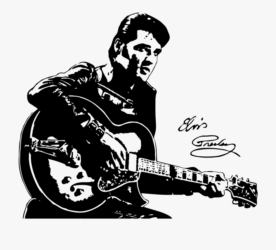 Clipart guitar guitar elvis. Presley vinyl clock