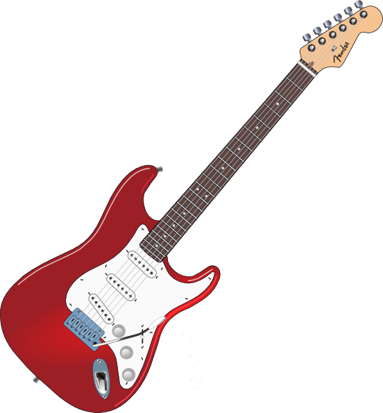 Slanted red clip art. Clipart guitar guitar fender