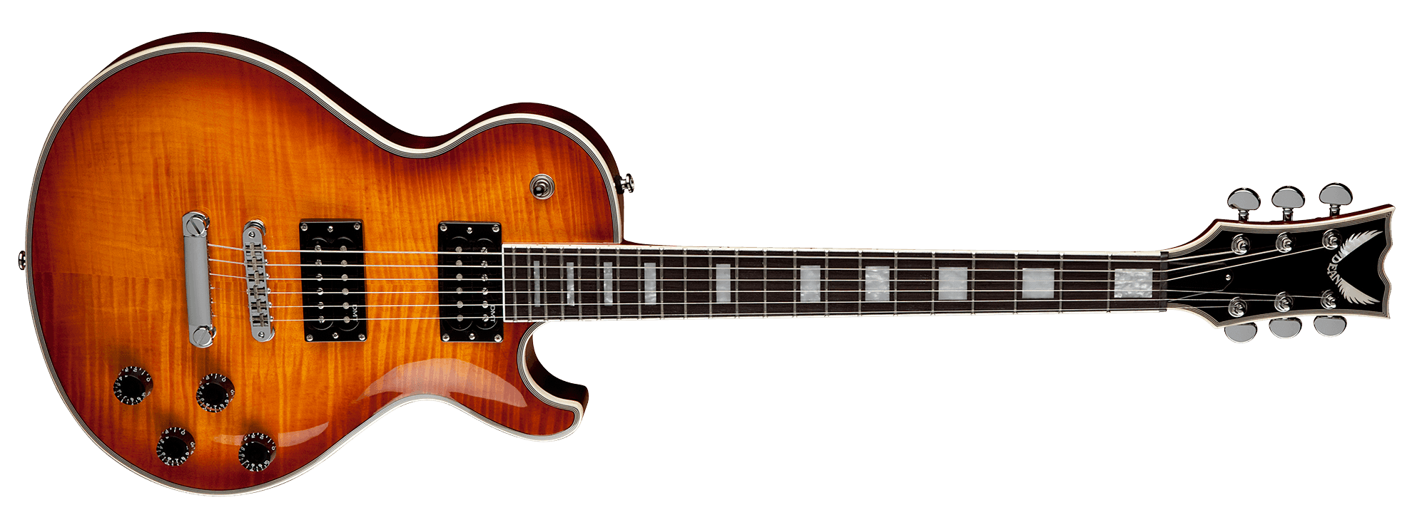 Thoroughbred deluxe trans amber. Clipart guitar guitar neck