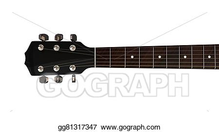 Clipart guitar guitar neck. Stock illustration and headstock